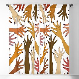 Strength Pride Love Hands  Blackout Curtain
