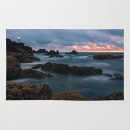 Foggy Corbiere Lighthouse in Jersey Rug