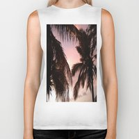 palm trees Biker Tanks featuring palm trees by NatalieBoBatalie