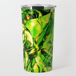 Fluid Painting 3 (Green Version) Travel Mug
