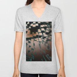 Neon Extrusion I - Cyberpunk Abstract Design Unisex V-Neck