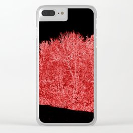 Snowy White Limbs with Neon Filter Clear iPhone Case