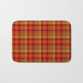 Plaid Check Stripe Pattern in Christmas Colors Bath Mat