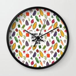Make The Pledge To Eat More Veg! Wall Clock