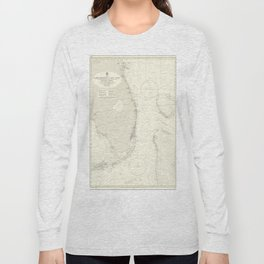 Vintage Map Print - Admiralty Chart No 2866 Cape Kennedy to Key West, 1961 Long Sleeve T-shirt