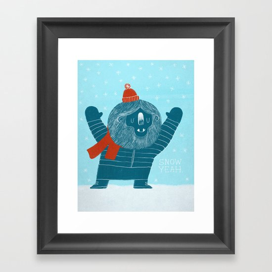 Snow Yeah Framed Art Print