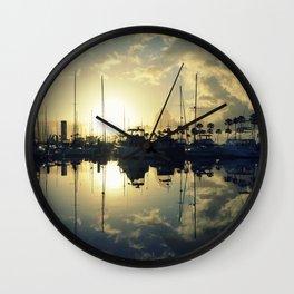marina morning Wall Clock