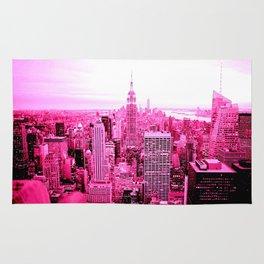New York City Pink Rug