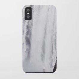 Man Vs. Nature - Skógafoss, Iceland iPhone Case