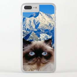 Himalayan Cat Clear iPhone Case