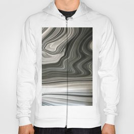 Black and White Artistic Marble Background Hoody