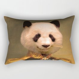 Panda Bear General | Cute Kawaii Rectangular Pillow