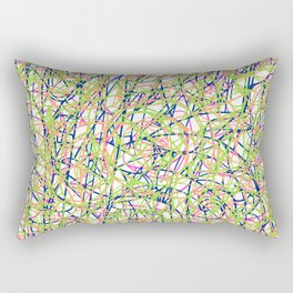 Summer in Nantucket: Pop Art Lines Rectangular Pillow