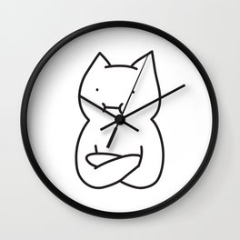 Cool cat is cool Wall Clock