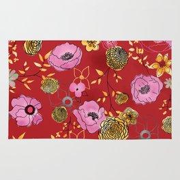 Aurora Larger Floral print Rug