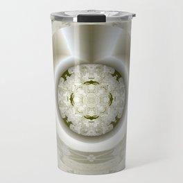 Hub Cap Art in Crystal Sepia Travel Mug