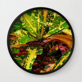 Tropical Croton Plant Wall Clock