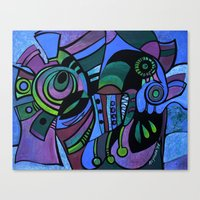 bugs Canvas Prints featuring BUGS by Deyana Deco