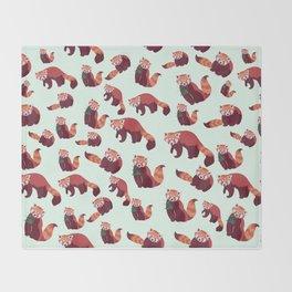 Red Panda Pattern Throw Blanket
