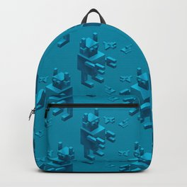 Retro giant robot attack Backpack