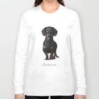 dachshund Long Sleeve T-shirts featuring Dachshund by Gosia