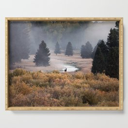Moosey Misty Morning Serving Tray
