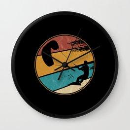 Kite Boarding Kiteboarder Retro Vintage Wall Clock