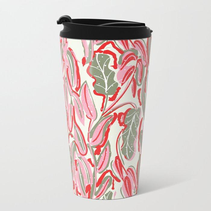 Messed Leaves Metal Travel Mug