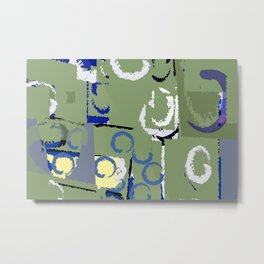 Olive Rose Abstract Field Metal Print