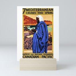 Vintage Mediterranean Cruises Canadian Pacific Advertisement Mini Art Print