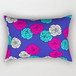 Pop Roses Pattern Rectangular Pillow