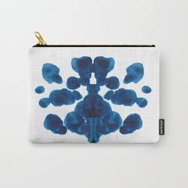 Inkblot Bunny Blue Inkblot Rorschach Test Carry-All Pouch