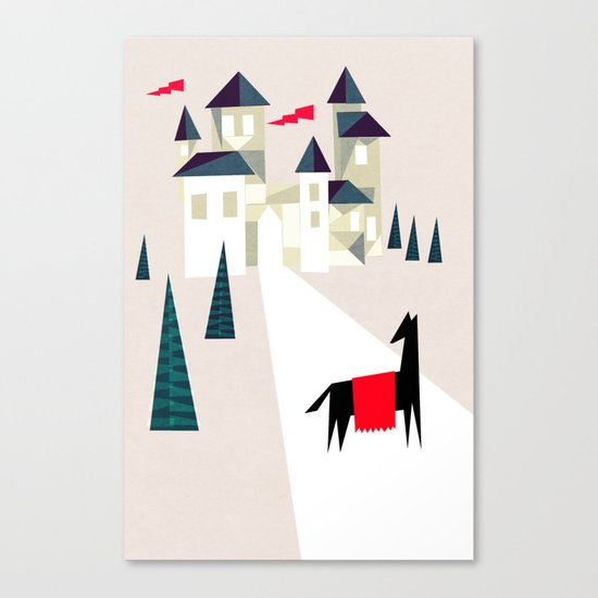 The horse and his castle Canvas Print