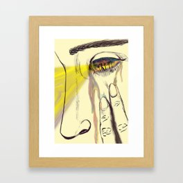 I, Eye, Aye Framed Art Print