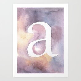 a watercolor Art Print