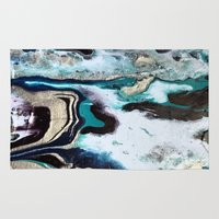 orca Area & Throw Rugs featuring Orca by Lauren Yonenson