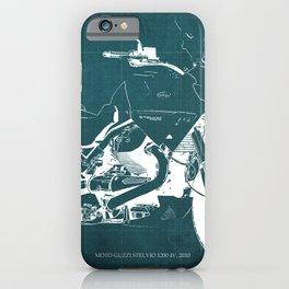 2010 Moto Guzzi Stelvio 1200 4V blue blueprint iPhone Case