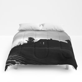 Silhouetted Stillness Comforters