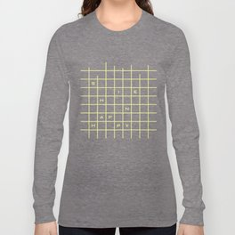 happy yellow graph Long Sleeve T-shirt