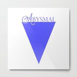 Abysmal: Purple/Blue Metal Print