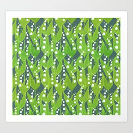 Lily of the Valley Pattern Art Print