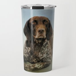 Waiting For A Cue - German Shorthaired Pointer Travel Mug