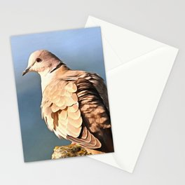 Artistic Ring Necked Dove Stationery Cards