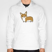 corgi Hoodies featuring Corgi by Chloe Meister