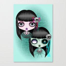 Zombie Doll The Dark Side Canvas Print