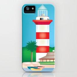 Hilton Head, South Carolina - Skyline Illustration by Loose Petals iPhone Case