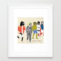 hollywood Framed Art Prints featuring Hollywood by RetroWhale