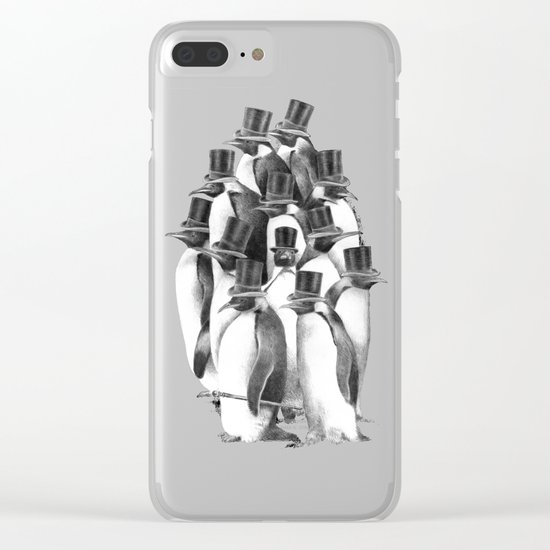 A Gathering of Gentlemen Clear iPhone Case