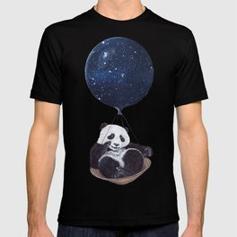 Panda in space T-shirt