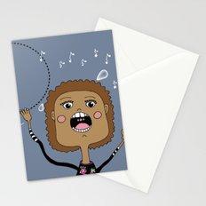 Le chanteur Stationery Cards